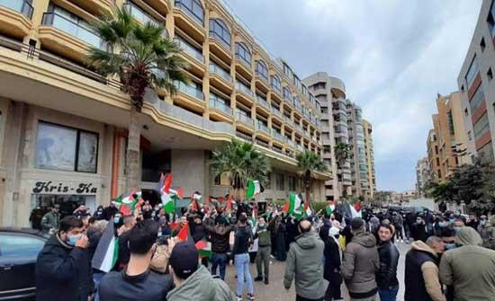 اعتصامات في بيروت تضامنا مع القدس