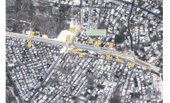 بدء العمل بالتحويلات المرورية على تقاطع مرج الحمام