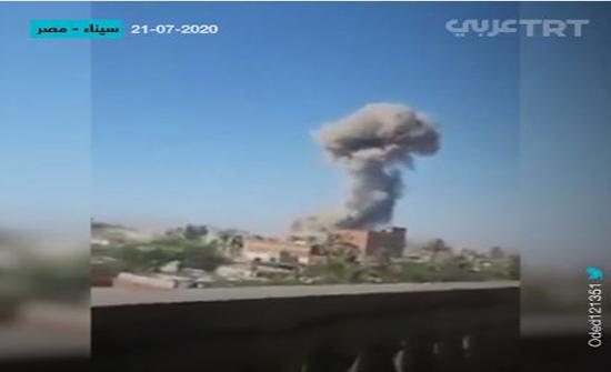 خسائر فادحة للجيش المصري في هجمات متزامنة بسيناء .. بالفيديو