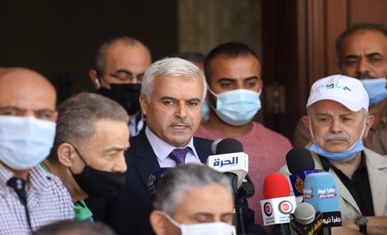 وقفة تضامنية لنقابة الصحفيين دعماً لصمود الشعب الفلسطيني