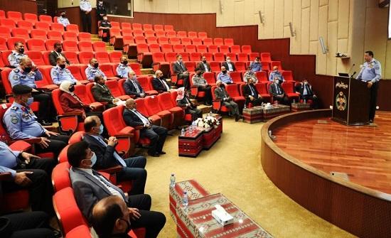 مدير الأمن العام يلتقي أعضاء مجلس الأعيان من المتقاعدين العسكريين