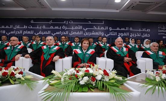 الأميرة بسمة ترعى تخريج الفوج الثاني والعشرين من طلبة جامعة الزرقاء