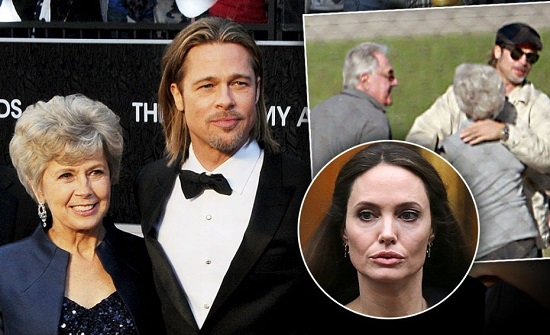 والدة براد بيت تتدخل في خلافه مع أنجلينا جولي