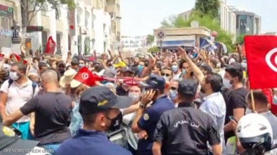 تونس.. احتجاجات تطالب بإسقاط الحكومة ومحاسبة الغنوشي