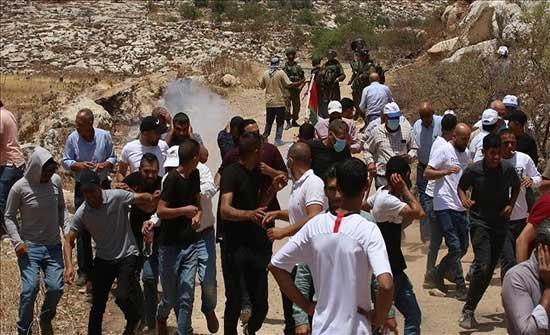 مواجهات بين فلسطينيين والجيش الإسرائيلي شمالي الضفة