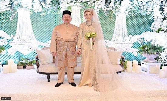 صور: حفل زفاف أسطوري لولي عهد ماليزيا وهذه الحسناء السويدية