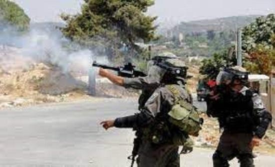 إصابة فلسطيني في مواجهات مع الاحتلال شمال رام الله