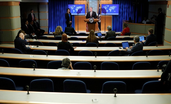 الخارجية الأمريكية تعلن تسجيل أول إصابة بكورونا داخل مكاتبها في واشنطن