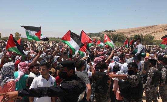 وقفة تضامنية مع القدس بالقرب من السفارة الاسرائيلية