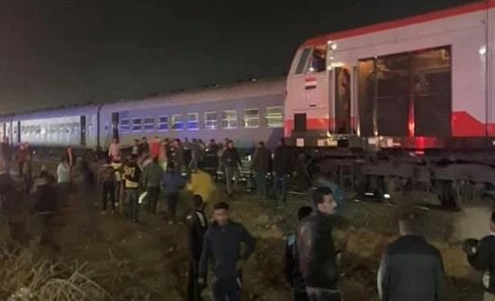 حادث قطار جديد وسقوط عدد من المصابين في منيا القمح في مصر .. بالفيديو