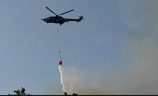 طائرات سلاح الجو تشارك في إطفاء حرائق في الأغوار الشمالية