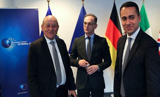 دعم أوروبي لليبيا.. وزراء خارجية إيطاليا وفرنسا وألمانيا في طرابلس