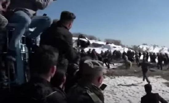 دببة تهاجم المتفرجين في العراق - فيديو