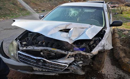 إصابتان اثر حادث تصادم في اربد