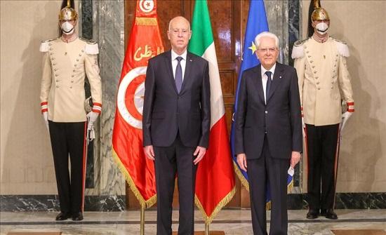 من إيطاليا.. رئيس تونس يدعو لمعالجة أسباب الهجرة غير النظامية