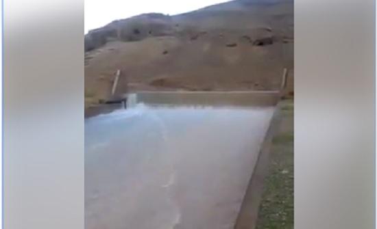بالفيديو : فيضان سد وادي شعيب