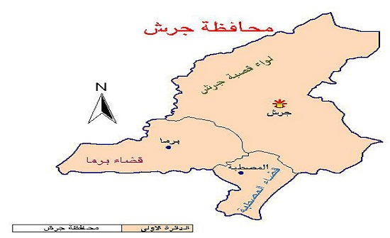 """""""السلامة العامة"""" في جرش تتفقد طريق حي الأمير حمزة"""