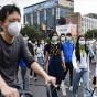 مشاة في احد شوارع الصين