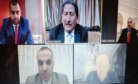 """مناقشة رسالة الماجستير الثالثة عشر عن بعد في """"عمان العربية"""""""
