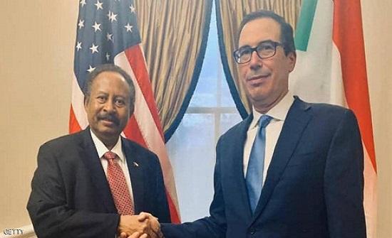 حمدوك يجري مباحثات مع وزير الخزانة الأميركي