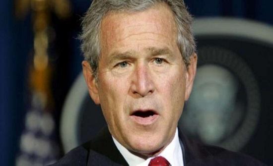 بالصور : الرئيس الامريكي الاسبق جورج بوش يزور مدينة جرش الاثرية