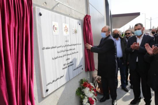 افتتاح أربعة مشاريع للباص سريع التردد