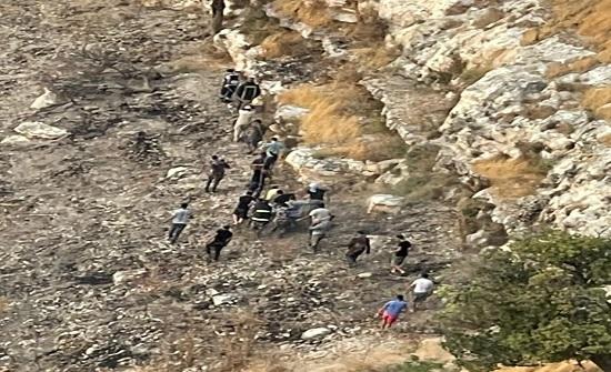 وفاة و5 اصابات إثر حادث تدهور في اربد  - صورة