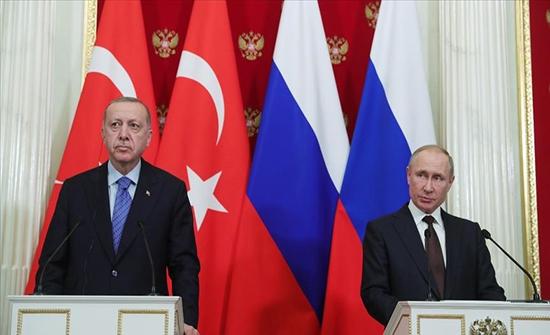"""أردوغان وبوتين يبحثان التطورات الخاصة بـ""""قره باغ"""""""