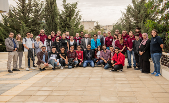 ورشتي عمل بين طلبة الألمانية الأردنية وطلبة جامعة فولدا الألمانية