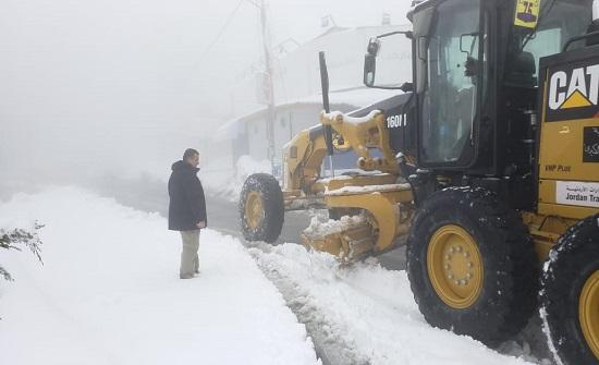 الخشمان: بلدية السلط تعاملت بحرفية مع المنخفض الجوي - بالصور