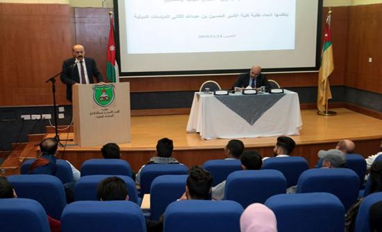 النائب الدعجة يحاضر حول (اللجان السياسية والتشريع) في (الأردنية)
