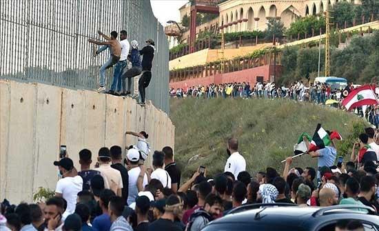 الجيش الإسرائيلي يصيب 5 متظاهرين لبنانيين عند الحدود