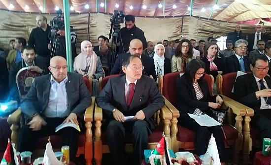 افتتاح مشاريع مياه في عين الباشا وديرعلا