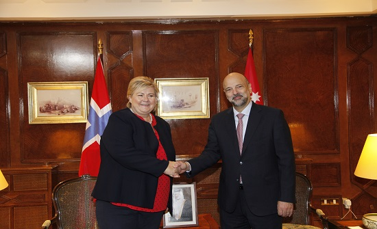 الرزاز يبحث مع رئيسة وزراء النرويج سبل تعزيز العلاقات الثنائية - تفاصيل