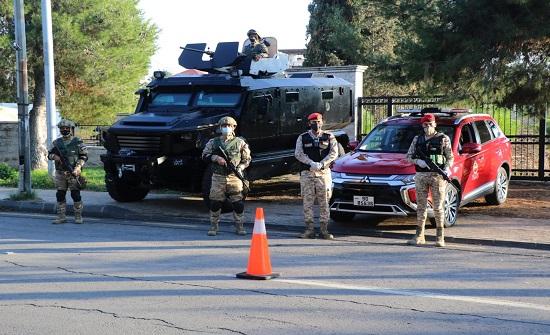 القوات المسلحة مستمرة بتطبيق الحظر الشامل في جميع المحافظات