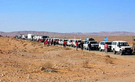 وفد أممي يزور مخيم الركبان السوري لإجلاء الراغبين بالمغادرة