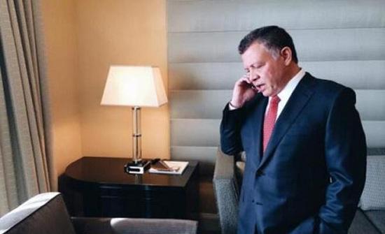 الملك يتلقى اتصالا هاتفيا من ولي عهد أبو ظبي