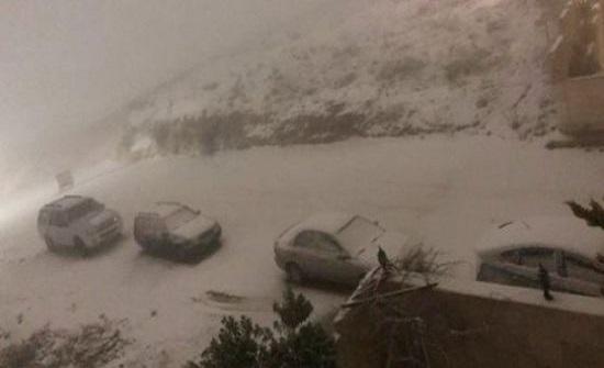 صور مختلفة لتساقط الثلوج في الاردن - شاهدوها