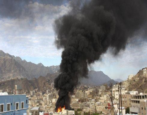 التحالف يدمر مركزا قياديا لميليشيات الحوثي في تعز