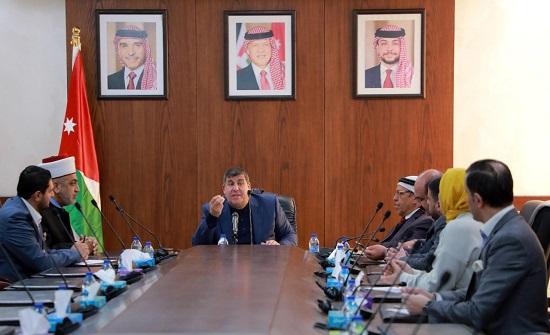 """""""فلسطين النيابية"""" تجتمع مع وزير الأوقاف ورئيس اتحاد نقابات العمال"""