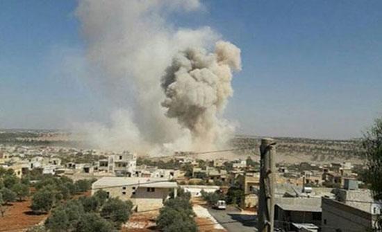 يالفيديو : مقتل العشرات في قصف واشتباكات بكفرنبودة شمالي حماة