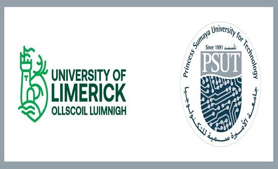 توقيع مذكرة تفاهم علمي بين جامعتي الأميرة سمية وليميرك الإيرلندية