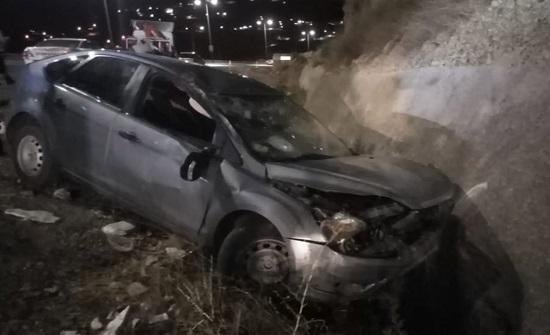 وفاة و3 إصابات إثر حادث تدهور في الكرك