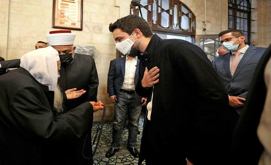 بالصور : ولي العهد يطلع على مشروع إعادة تأهيل المسجد الحسيني