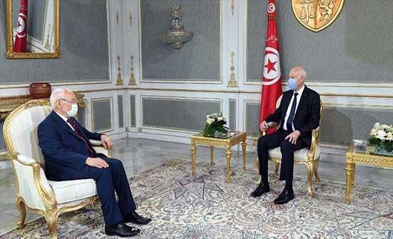 تونس.. الغنوشي يرحب بترتيب لقاء له مع سعيد