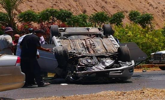 3 اصابات بحادث تدهور في اربد