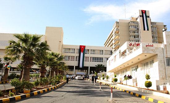 مستشفى الجامعة الأردنية يعلن عن استمراره بمنع زيارات المرضى