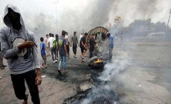 العراق: حريق في شارع الرشيد ببغداد