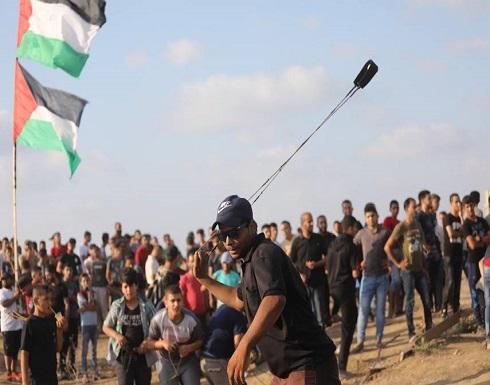 شهيد وإصابات باعتداء قوات الاحتلال على المتظاهرين في غزة