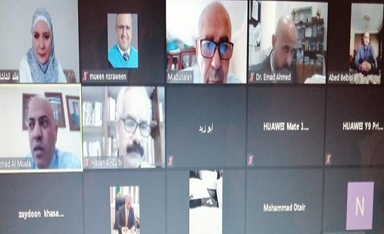 جامعة عمان العربية تواصل مناقشة رسائل الماجستير عن بعد